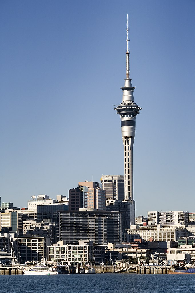 file waitemata harbour ferry dock and the skytower. Black Bedroom Furniture Sets. Home Design Ideas