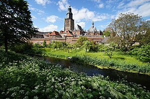 Zutphen - View of St Walburga's Church in Zutphen's city centre