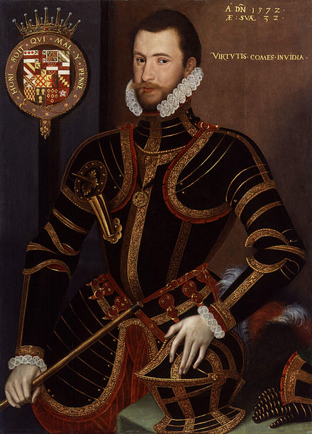 Walter Devereux, 1st Earl of Essex. Corbet was a feoffee of his estate.