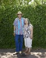 Walter Larkin and Charlotte Larkin of Colorado Springs, Colorado, were participants in a Colorado Springs Native American Inter Tribal Powwow and festival in that central Colorado city LCCN2015633454.tif