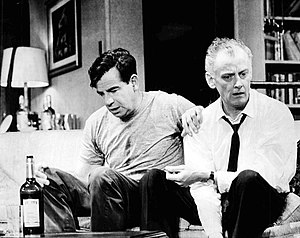 Walter Matthau - Matthau and Art Carney in The Odd Couple, 1965