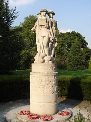 24th Division (United Kingdom) - 24th East Surrey Division War Memorial, Battersea Park, by Eric Kennington.