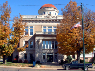 Williamsport, Indiana - Warren County courthouse in Williamsport