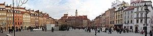 Old Town Market Place, Warsaw - Image: Warsawoldtown Panorama