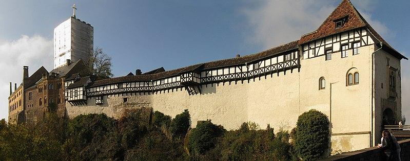 Wartburg bei Eisenach - Panorama der Ostseite