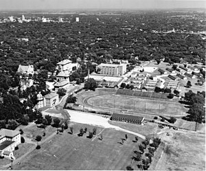 Washburn University - Aerial view of Washburn campus in 1948