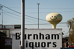 Water tower with smiley in Calumet City, Illinois.jpg