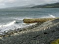 Waves buffeting a dilapidated breakwater at the mouth of Afon Tal - geograph.org.uk - 625737.jpg