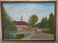 Wennigsen (Deister) Gemälde Öl auf Holz , Klosteramthof mit Klosterbrücke.jpg