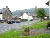 Western approach to the sharp bend in Llandrillo's High Street - geograph.org.uk - 472186.jpg