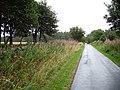 Wet road, Middlethird - geograph.org.uk - 216720.jpg