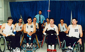 Wheelchair rugby at the 1996 Summer Paralympics - Image: Wheelchair rugby Atlanta Paralympics (1)
