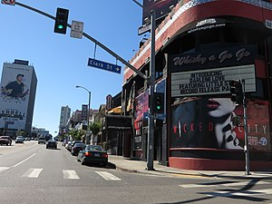 Sunset Strip curfew riots - The Sunset Strip as it appeared in 2015