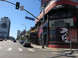 Sunset Strip curfew riots - The Sunset Strip as it appeared in 2015 with the Whisky A Go Go in the foreground.