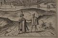 Widok Krakowa od południa z kopca Krakusa - według rysunku Egidia van der Rye'a (detail).png