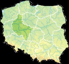 Województwo wielkopolskie na mapie Polski