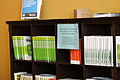 Wikimedia Foundation visitors' bookshelf, 2010-10-25.jpg