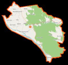 Mapa lokalizacyjna gminy Wilga