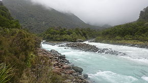 Wilkinson River on RHS meets Whitcombe River New Zealand.jpg