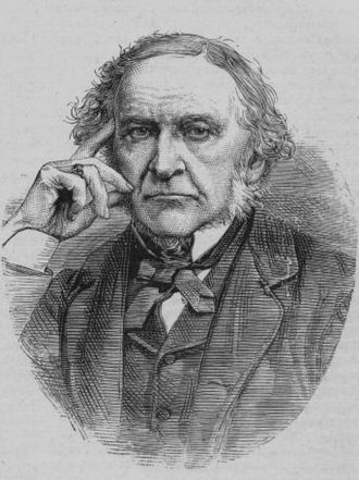 A pensive Gladstone, from the book Great Britain and Her Queen, by Anne E. Keeling William Ewart Gladstone - Project Gutenberg eText 13103.jpg