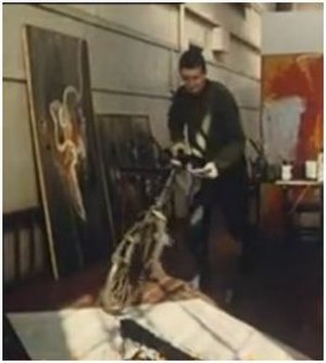 William Green (action painter) - William Green - Action Painter, in action