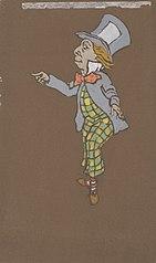 Mad Hatter (costume design for Alice-in-Wonderland, 1915)