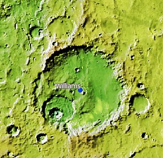 Williams (Martian crater) crater on Mars