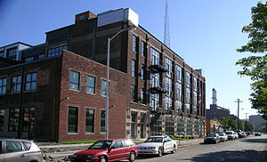 Midtown Detroit - Willis Overland Lofts, on Willis looking east