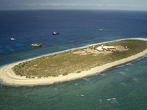 Willis Island (Coral Sea) - Aerial view of Willis Island in 2006
