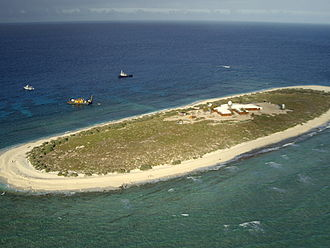 Willis Island - Aerial view of Willis Island in 2006