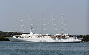 Cruise ship Wind Surf in Pula, Croatia