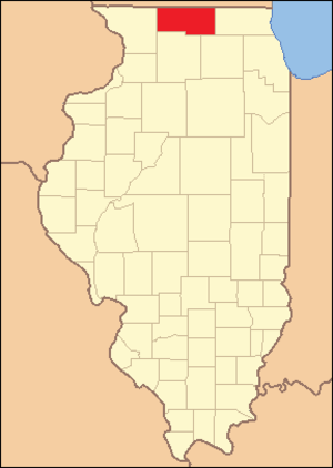 Winnebago County, Illinois - Image: Winnebago County Illinois 1836