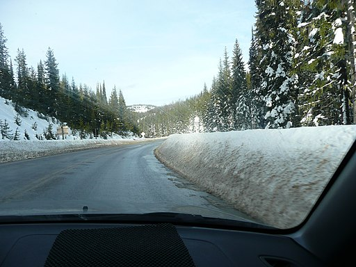 Winter Road Lolo Pass