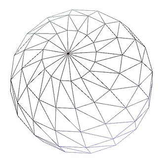 Level of detail - A wireframe sphere with almost 700 vertices, good when viewed from a distance.