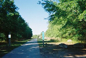 South end of the Withlacoochee State Trail at ...