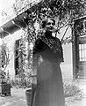 Woman, yard, oleander, summer Fortepan 356.jpg