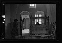 Women's Institute, Jerusalem. One of the weaving rooms, 1 loom LOC matpc.19905.jpg