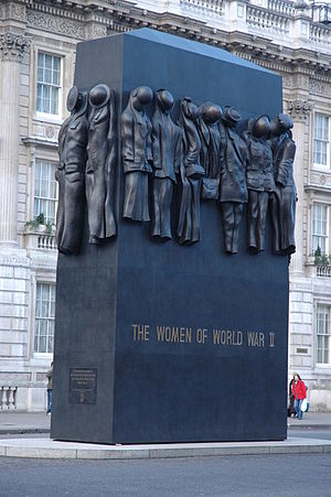 John Mills (British sculptor) - Monument to the Women of World War II Whitehall London.