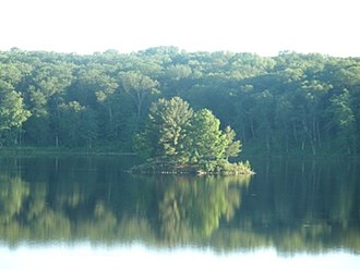 Straight Lake State Park - Wooded island on Straight Lake