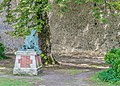 Wounded soldier in the park of the Castle of Montresor 02.jpg