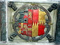 Wroxeter St Andrews - Arms of Thomas Bromley and Isabel Lyster.JPG