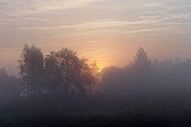 Wschód słońca nad Doliną Wisły, Ochodza pod Krakowem, 20211017 0716 3279.jpg