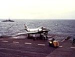 XF3H Demon on USS Coral Sea (CVA-43) in 1953.jpg