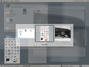 Alt-Tab - Image: Xgl window switching