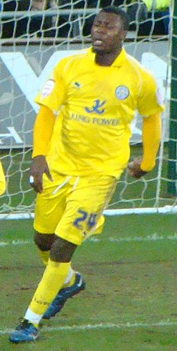 Yakubu playing for Leicester City in 2011 Yakubu.jpg
