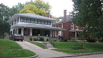 Dayton View Historic District - Houses in the northern part of the district