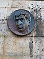 Yeghishe Charents plaque portrait, Tsakhkadzor House of Writers.jpg