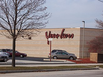 Younkers - Exterior of a Younkers store in Sheboygan, Wisconsin, a former H. C. Prange Co., in 2006, which was converted into Boston Store in 2008.