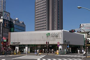 Yoyogi Station - The main (west) entrance in July 2012
