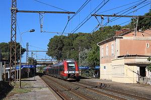 Milhaud, Gard - A TER service passing through the Gare de Milhaud